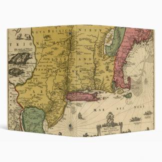 1685 Map - New Belgium, The New World, New England 3 Ring Binder