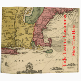 1685 Map - New Belgium, The New World, New England 3 Ring Binder