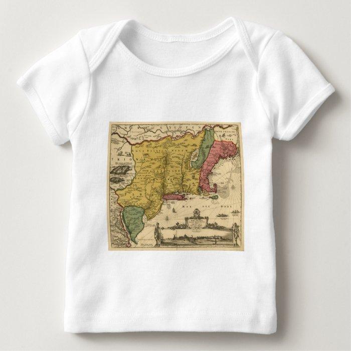 1685 Map - New Belgium, The New World, New England Baby T-Shirt