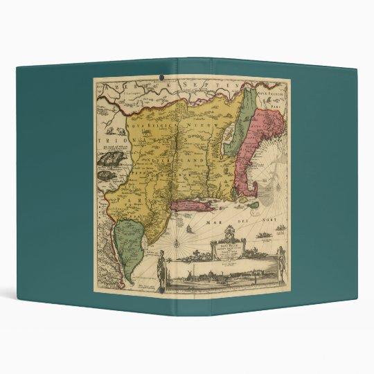 1685 Map - New Belgium, The New World, New England Binder