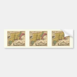 1685 Map - New Belgium, The New World, New England Bumper Sticker