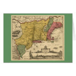 1685 Map - New Belgium, The New World, New England Greeting Cards