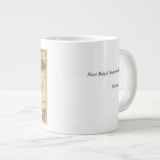 1685 Map - New Belgium, The New World, New England Giant Coffee Mug