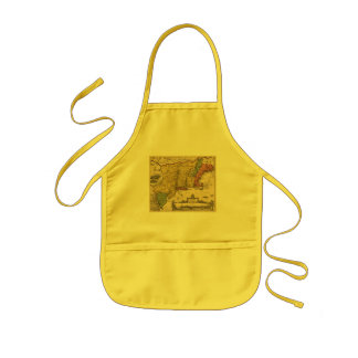 1685 Map - New Belgium, The New World, New England Kids' Apron