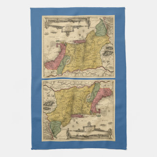 1685 Map - New Belgium The New World New England Towels