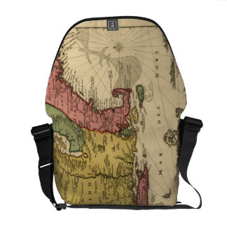 1685 Map - New Belgium, The New World, New England Courier Bag