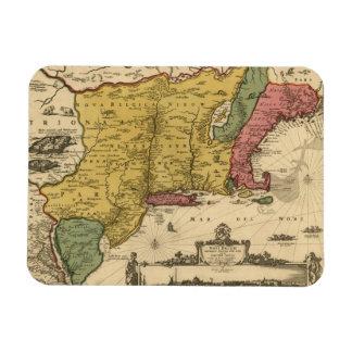 1685 Map - New Belgium, The New World, New England Flexible Magnet