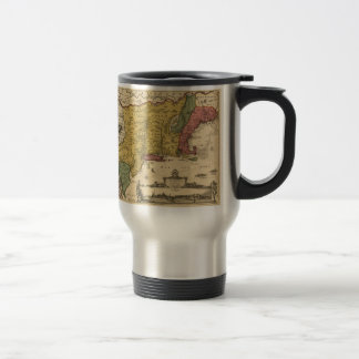 1685 Map - New Belgium, The New World, New England Travel Mug