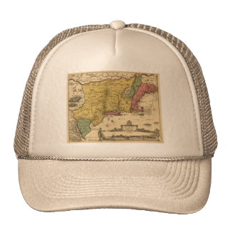1685 Map - New Belgium, The New World, New England Trucker Hat