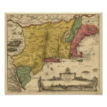 1685 mapa - nueva Bélgica, el nuevo mundo, Nueva I Poster