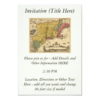 """1685 mapa - nueva Bélgica, el nuevo mundo, Nueva Invitación 3.5"""" X 5"""""""
