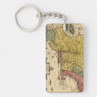 1685 mapa - nueva Bélgica, el nuevo mundo, Nueva Llavero Rectangular Acrílico A Doble Cara