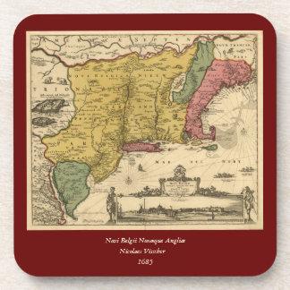 1685 mapa - nueva Bélgica, el nuevo mundo, Nueva Posavaso