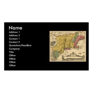 1685 mapa - nueva Bélgica, el nuevo mundo, Nueva Tarjetas De Visita