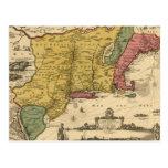 1685 mapa - nueva Bélgica, el nuevo mundo, Nueva Postal