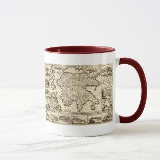 1688 Greece / Greek Peloponnesian Map Mug