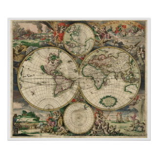 1689 World Map Posters