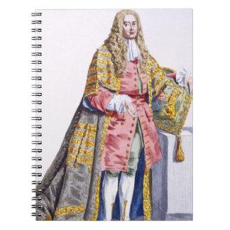 1690-1764) primeros señores Hardwick de Philip Yor Spiral Notebook
