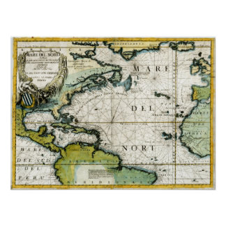 1691 Atlantic Nautical Chart