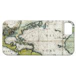 1691 Atlantic Nautical Chart iPhone SE/5/5s Case