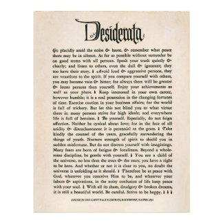 "1692 Desiderata - Parchment look paper, 25 sheets 8.5"" X 11"" Flyer"