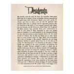 1692 Desiderata - Parchment look paper, 25 sheets Custom Flyer