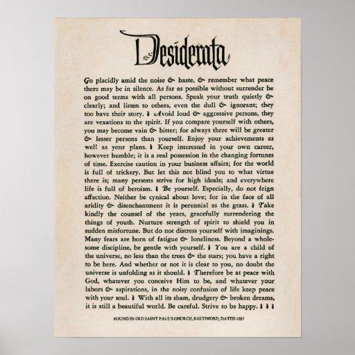 1692 - Desiderata Print