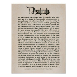 1692 - Desiderátums Posters