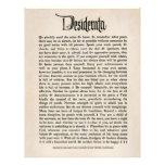 1692 desiderátums - papel de la mirada del pergami flyer a todo color
