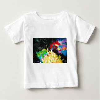 1698 COLORFUL ABSTRACT PAINTED WALL BLACK BACKGROU BABY T-Shirt