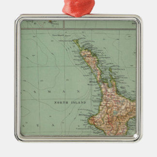 169 Nueva Zelanda, Hawaii, Tasmania Adorno Navideño Cuadrado De Metal