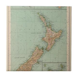 169 Nueva Zelanda, Hawaii, Tasmania Azulejo Cuadrado Pequeño