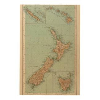169 Nueva Zelanda, Hawaii, Tasmania Cuadros De Madera