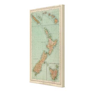 169 Nueva Zelanda, Hawaii, Tasmania Impresión En Lienzo Estirada