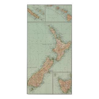169 Nueva Zelanda, Hawaii, Tasmania Impresión En Madera