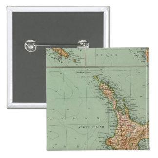 169 Nueva Zelanda, Hawaii, Tasmania Pin Cuadrado