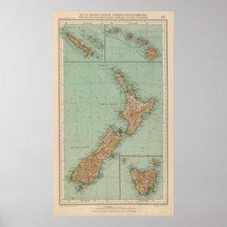 169 Nueva Zelanda, Hawaii, Tasmania Póster