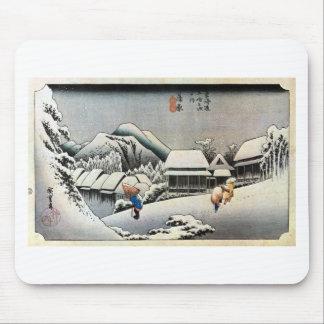 16. 蒲原宿, 広重 Kanbara-juku, Hiroshige, Ukiyo-e Mousepads