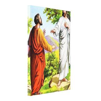 16:15 de Matthew - 20 usted es la lona de Cristo Lona Estirada Galerias