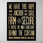 16:9 de los hebreos - empresa y Seguro-Ancla del a Posters