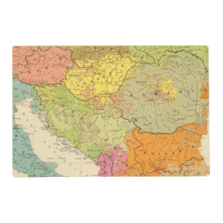 16 a European ethnographic Placemat