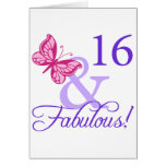 16 And Fabulous Birthday Greeting Card