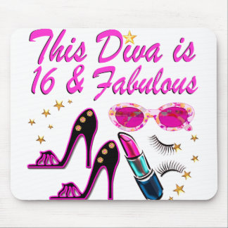 16 AND FABULOUS DIVA MOUSE PAD