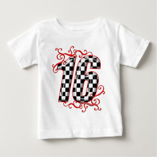 16 auto racing number baby T-Shirt