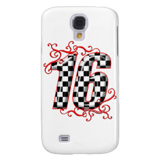 16 auto racing number galaxy s4 cover