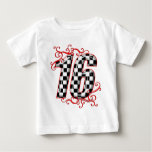 16 auto racing number t shirt