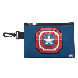 16-Bit Pixelated Captain America Shield Accessory Bag