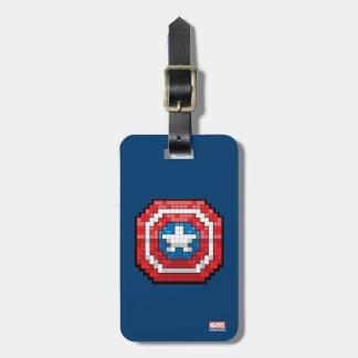 16-Bit Pixelated Captain America Shield Bag Tag