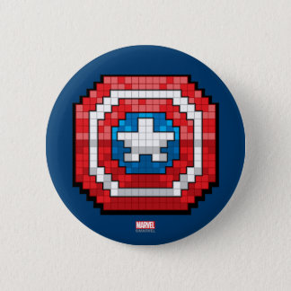 16-Bit Pixelated Captain America Shield Button