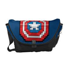 16-bit Pixelated Captain America Shield Messenger Bag at Zazzle